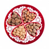 picture of brazil nut  - Group of heart - JPG