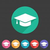 picture of graduation hat  - Vector flat graduation cap - JPG