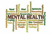 picture of mental_health  - Mental Health word cloud on white background - JPG