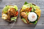 pic of ayam  - Famous traditional Indonesian food - JPG