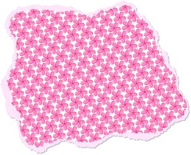 image of scrappy  - Illustration of a ripped and torn scrappy piece of paper with a floral design - JPG