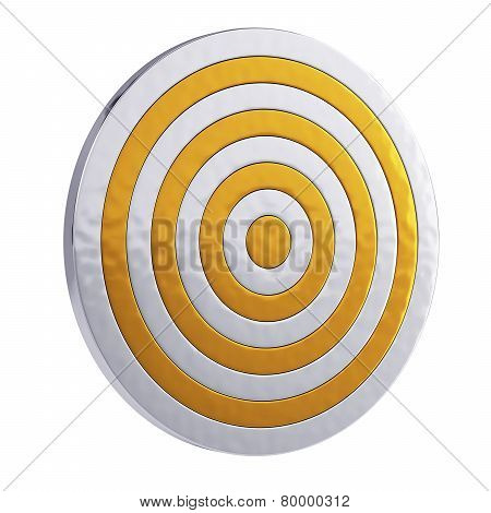 Golden Royal Target Isolated On White Background