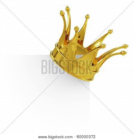 Golden Crown On The Blank Board