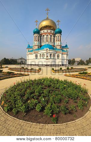 Uspensky Cathedral. Omsk. Russia.