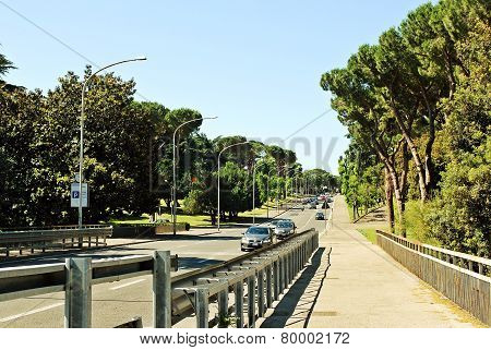 Rome City Life. View Of Rome City New District On June 1, 2014