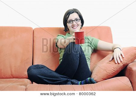 Woman Drink Coffee