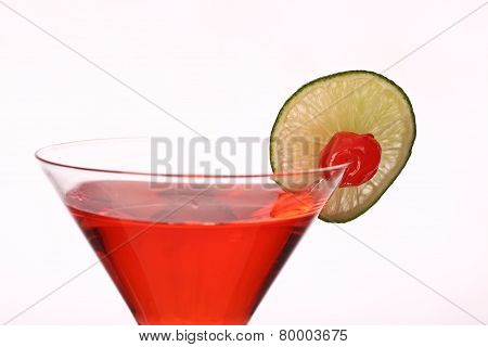 Cosmopolitan Martini Fresh Coctail Isolated On White