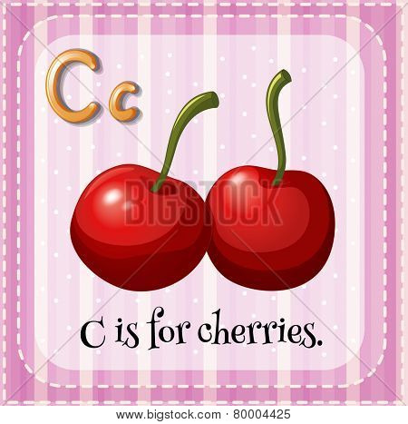 A letter C which stands for cherries