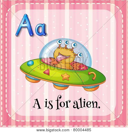 A letter A which stands for alien