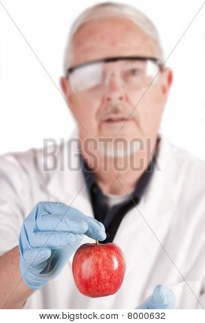Doctor Offering Apple
