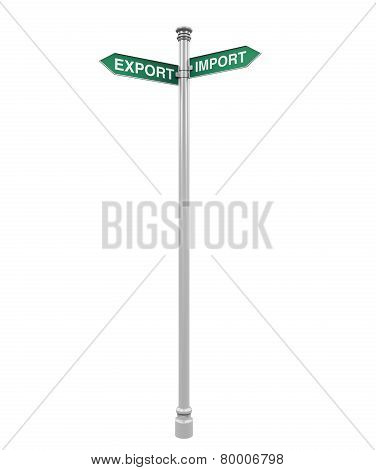 Direction Sign of Export and Import