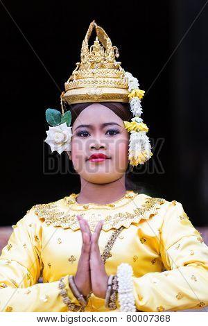 A Beautiful Young Aspara Dancer, Cambodia