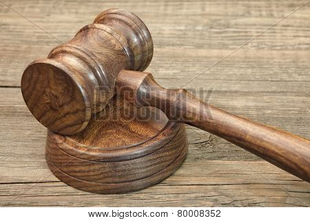 Judges Gavel Close-up