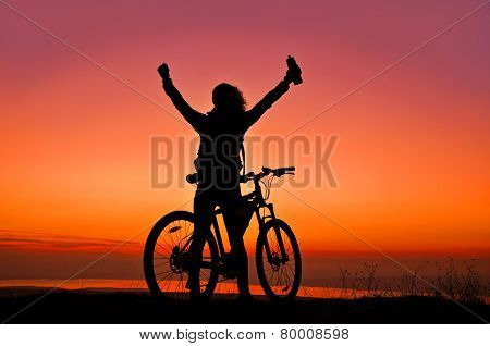 Young lady with bicycle