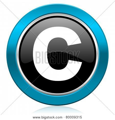 copyright glossy icon