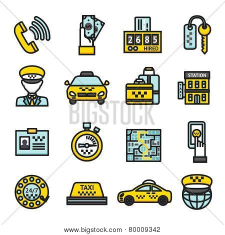 Taxi Icon Set