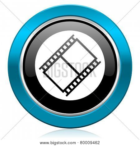 film glossy icon movie sign cinema symbol