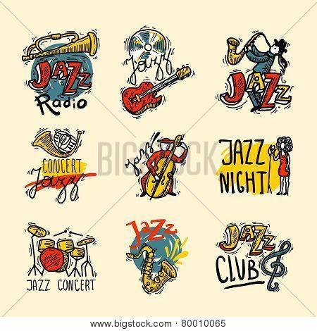 Jazz Labels Set