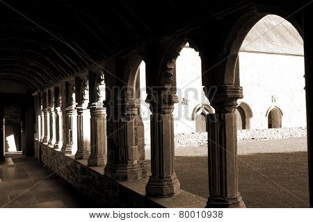 Sepia Arches In Holycross Abbey