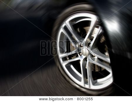 Wheel Rim in Motion