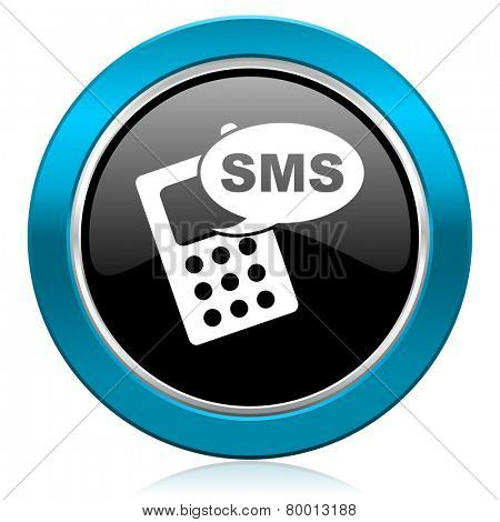 sms glossy icon phone sign