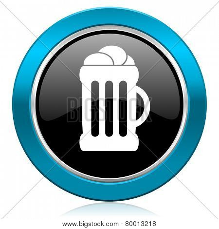 beer glossy icon mug sign