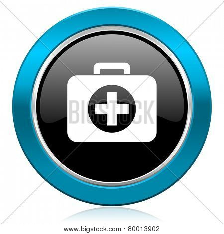 first aid glossy icon hospital glossy icon