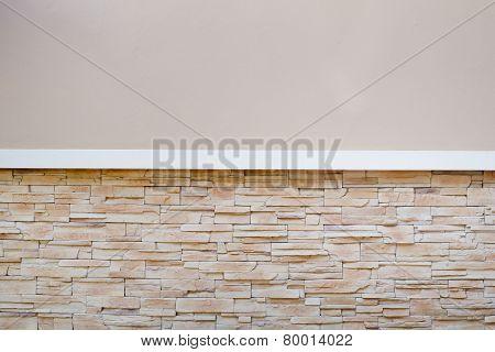 Half Cement Half Rock, Wall Pattern