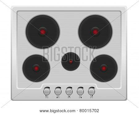 Surface For Electric Stove Vector Illustration