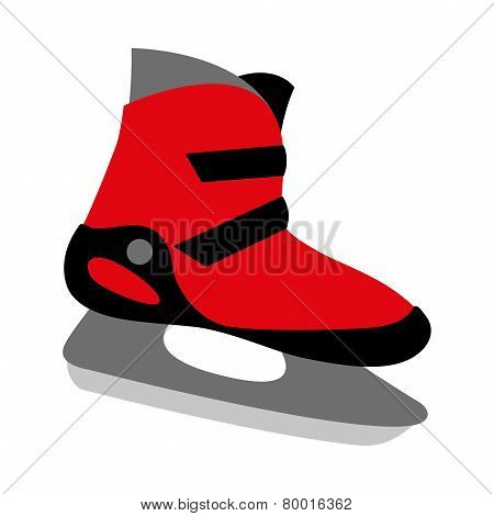 Red Ice Skates Boot Icon