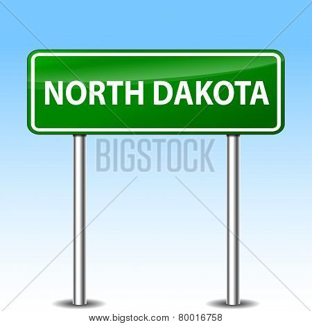 North Dakota Green Sign