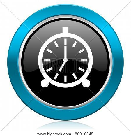 alarm glossy icon alarm clock sign