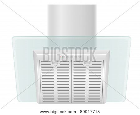 Extractor Hood For Kitchen Vector Illustration