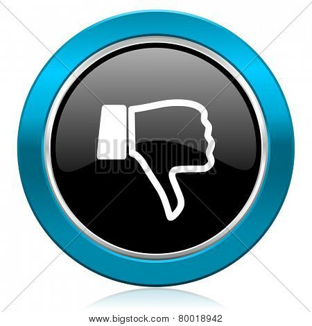 dislike glossy icon thumb down sign