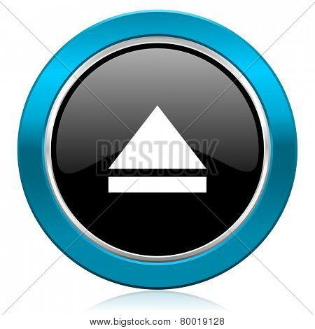 eject glossy icon open sign