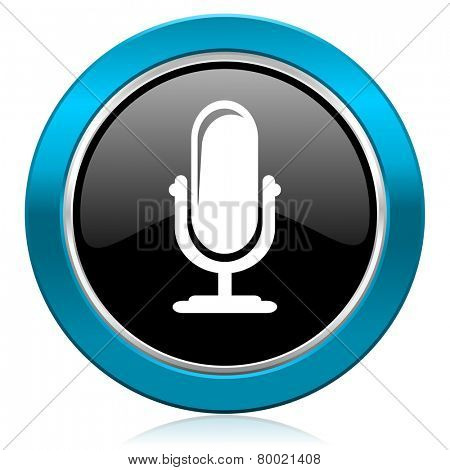 microphone glossy icon podcast sign