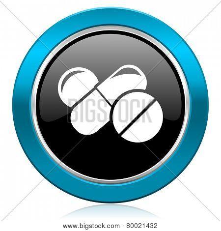 medicine glossy icon drugs symbol pills sign