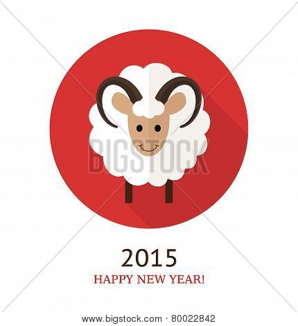 Vector Illustration Of Ram, Symbol Of 2015.