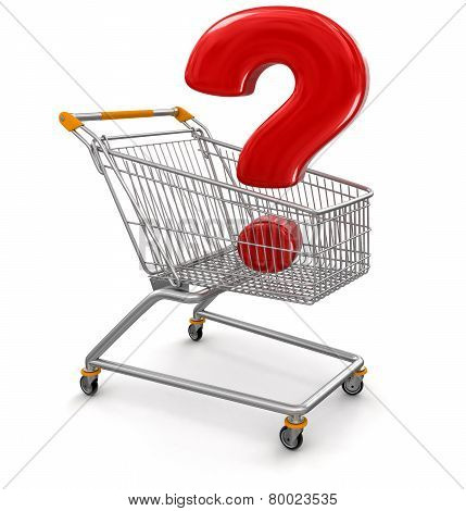 Shopping Cart with Quest  (clipping path included)