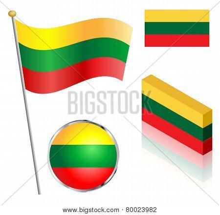 Lithuanian Flag Set