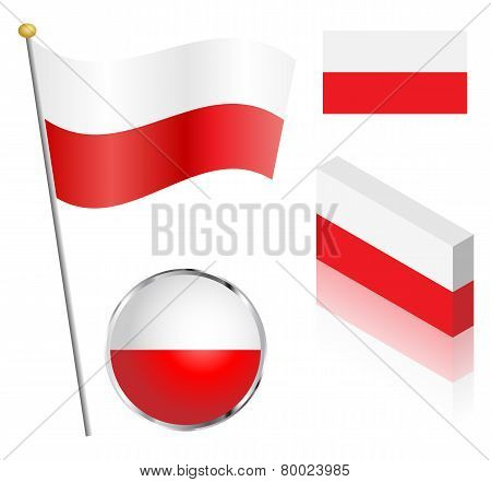 Polish Flag Set
