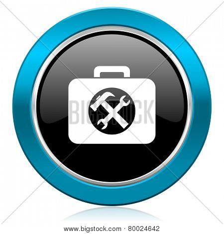 toolkit glossy icon service sign