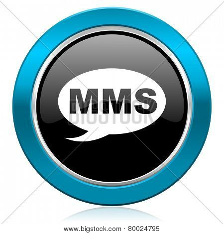 mms glossy icon message sign