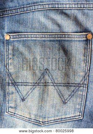 Old Blue Jeans Pocket.
