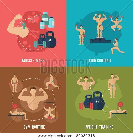 Bodybuilding Flat Set