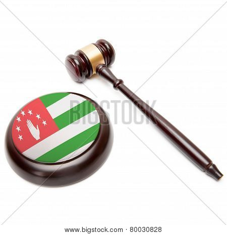Judge Gavel And Soundboard With National Flag On It - Abkhazia