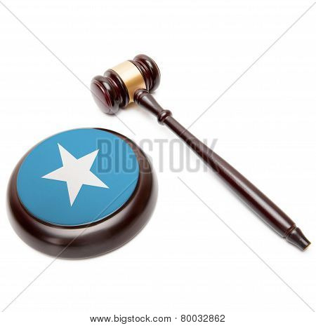 Judge Gavel And Soundboard With National Flag On It - Somalia