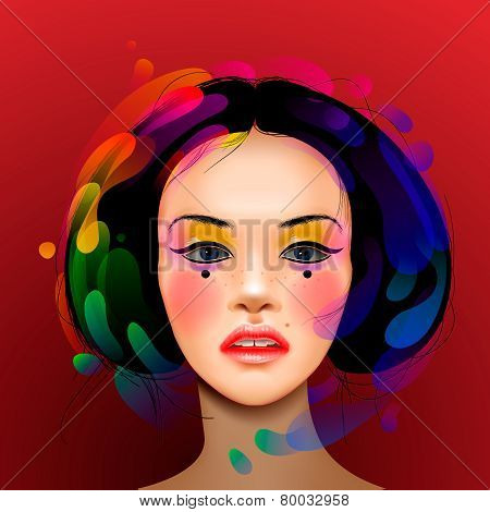 Asian woman beauty face portrait