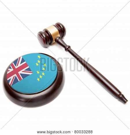 Judge Gavel And Soundboard With National Flag On It - Tuvalu