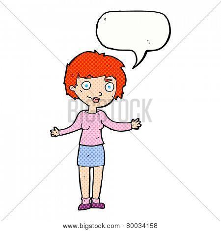 cartoon woman confused